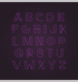 modern neon font - minimalistic design vector image vector image