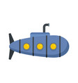 nautical submarine icon flat style vector image vector image