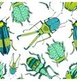 Nice beetle pattern vector image