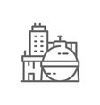 oil factory chemical plant industrial building vector image