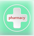 pharmacy logo medicine white plus abstract design vector image