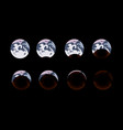 phases the shadow of the moon on earth during an vector image vector image