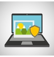 picture data protection cyber security vector image vector image