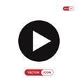 play button icon vector image vector image