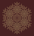 pretty round golden snowflake vector image vector image