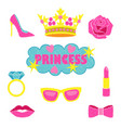 princess fashion embroidery set vector image vector image