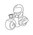 riding motorcycle vector image