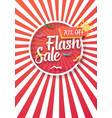 sale poster paper lettering vector image vector image