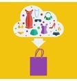 shopping bag woman vector image vector image