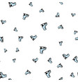 skates on a white background seamless pattern vector image