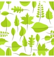 Spring green withered leaves seamless pattern vector image vector image