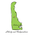 State of Delaware vector image