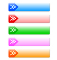 The arrow buttons vector image