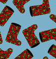 Valenki khokhloma seamless pattern National vector image vector image