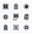 Various window icons set vector image vector image