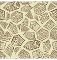 Vintage decorative hand drawn background vector image