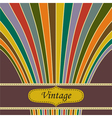 Vintage salute background vector image vector image