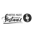 Vinyl record and lettering retro music festival