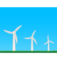 Wind turbines farm vector image