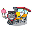 with ice cream train character cartoon style vector image vector image