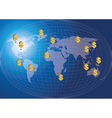 World map finance concept vector image vector image