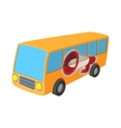Yellow bus icon cartoon on white vector image vector image