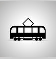 tram silhouette side view simple black icon vector image