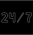 247 service the white path icon vector image vector image