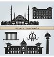 Ankara landmarks and monuments vector image vector image