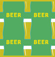 beer glasses seamless pattern vector image vector image