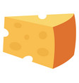 big yellow chesse on white background vector image vector image