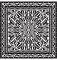 Black and white Bandana print design with borders vector image vector image