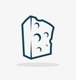 block of cheese vector image