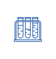 blood test line icon concept blood test flat vector image