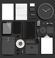 branding mockup black business vector image vector image