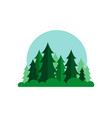 cartoon forest wood landscape vector image
