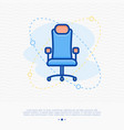 chair for gamer thin line icon vector image