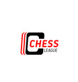 chess game symbol for sport club emblem design vector image