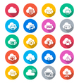 Cloud computing flat color icons vector image vector image