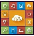 cloud social media icons vector image vector image