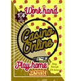 Color vintage online casino poster vector image vector image