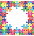 Colored frame made up of pieces puzzle vector image vector image