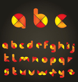 Decorative colored alphabet vector | Price: 1 Credit (USD $1)