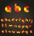 decorative colored alphabet vector image