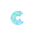 digital letter c logo icon design vector image