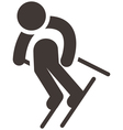 Downhill skiing vector image