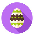 Easter Egg with Ornament Decor Circle Icon vector image vector image