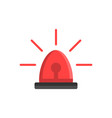 emergency siren icon in flat style police alarm vector image