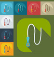 flat modern design with shadow icons whip vector image vector image