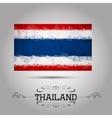 geometric polygonal Thailand flag vector image vector image